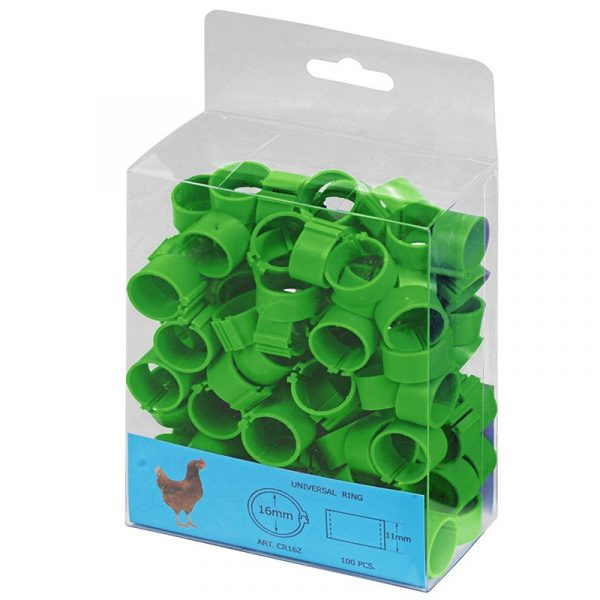 Anillas plástico para gallinas
